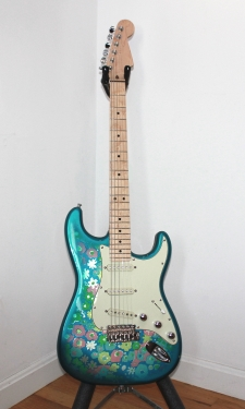 Customized Blue Flower Stratocaster - click for more photos