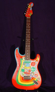 Fender Strat custom-painted like George Harrison's Rocky - click for more photos